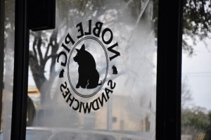 The Noble Pig logo - from the inside out