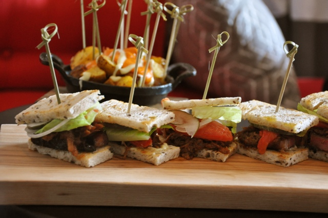 Party food presentation made easy: BLTS {Austin Food Lovers' Companion}