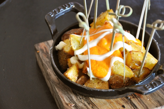 Party food presentation made easy: papas bravas {Austin Food Lovers'  Companion}