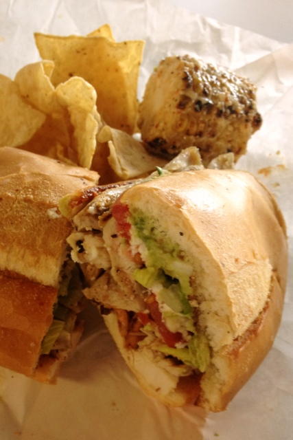 Chicken Torta at Fresa's Chicken in Austin, Texas