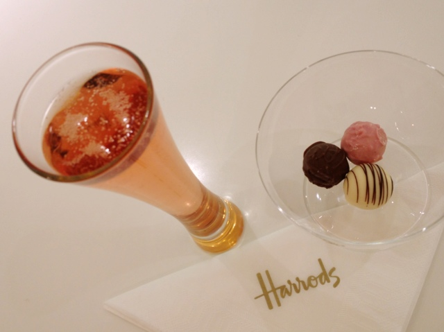 Veuve Clicquot pink truffles and champagne