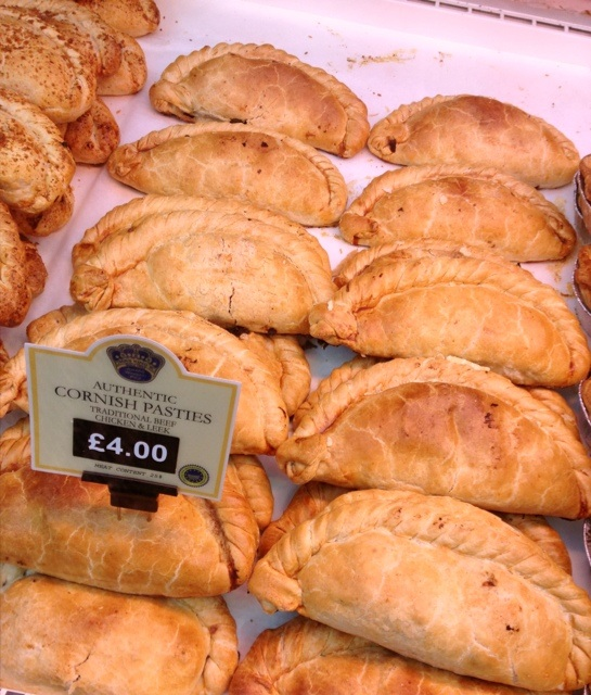 Cornish pasties at the Borough Market in London.