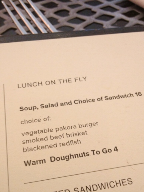 Lunch on the Fly Menu at TRACE in Austin, TX