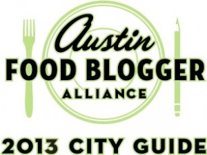 Austin Food Blogger Alliance City Guide 2013 Logo
