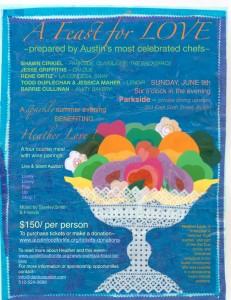 Poster for Feast for Love fundraising dinner