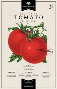 Poster for the Austin Food For Life Tomato Dinner