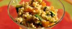 Cold Salad Recipe for a Summer Dinner Party: Bulgur Wheat Tossed with Grilled Summer Vegetables