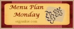 Menu Plan Monday ~ Week of September 26